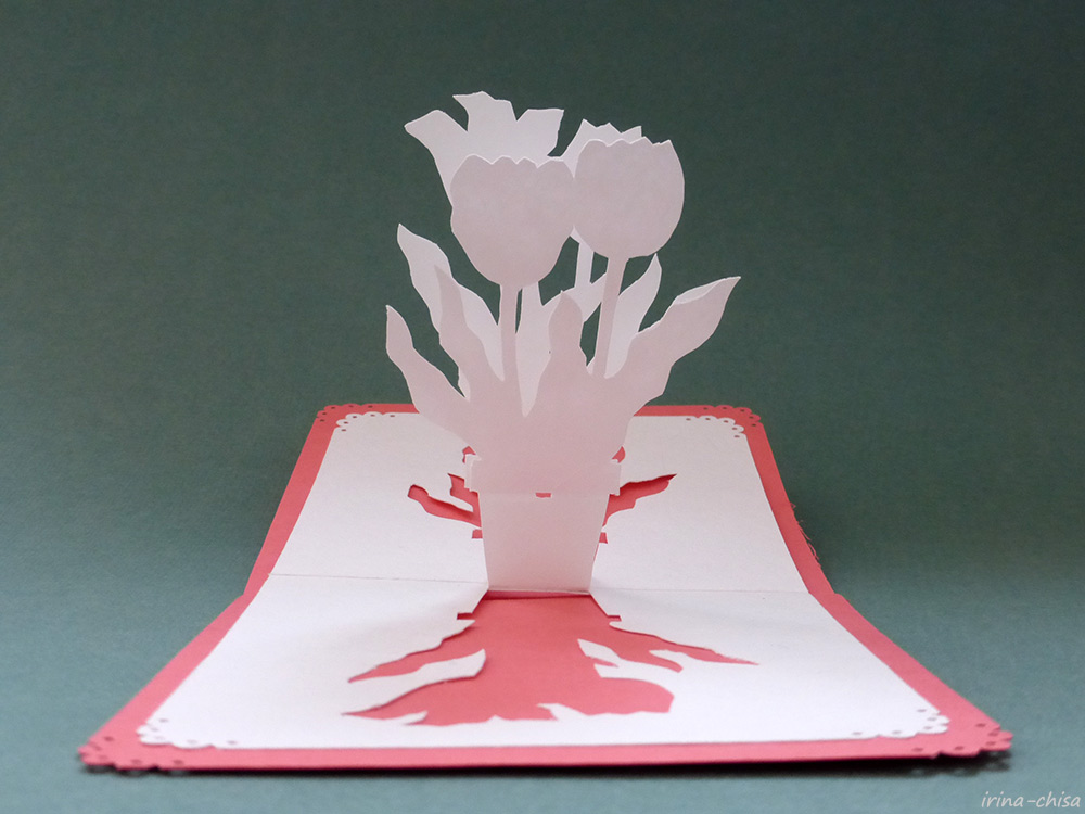Японское киригами. Тюльпан