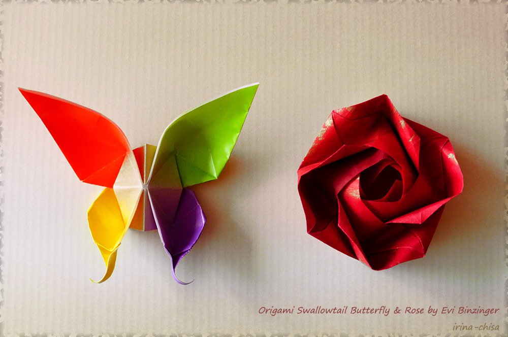 Butterfly and Rose by Evi Binzinger
