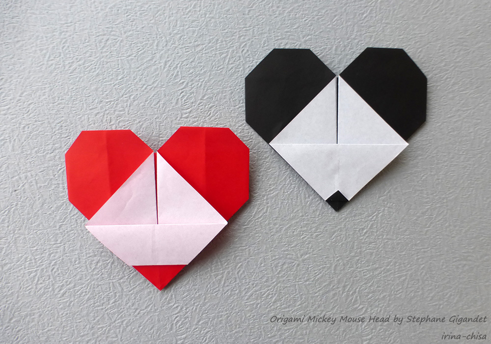 Origami Mickey Mouse Head by Stephane Gigandet