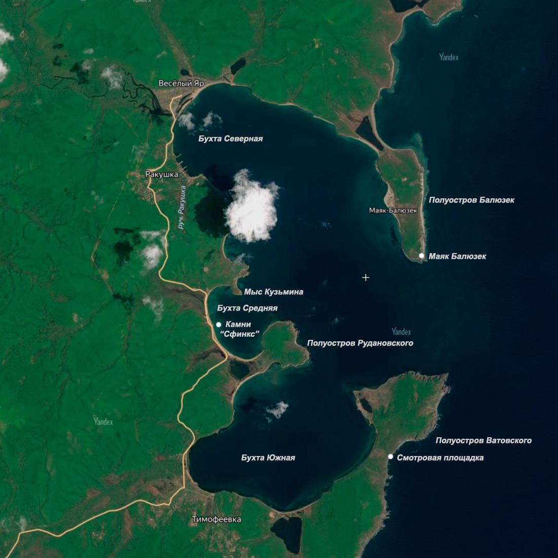 Карта Залив Владимира