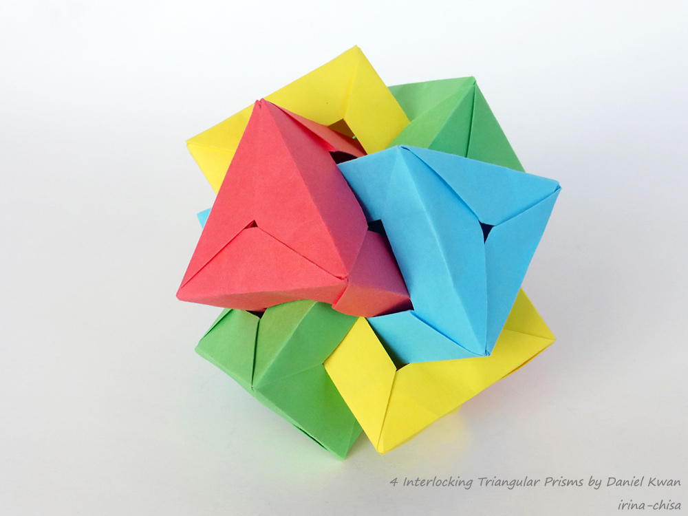 4 Interlocking Triangular Prisms by Daniel Kwan