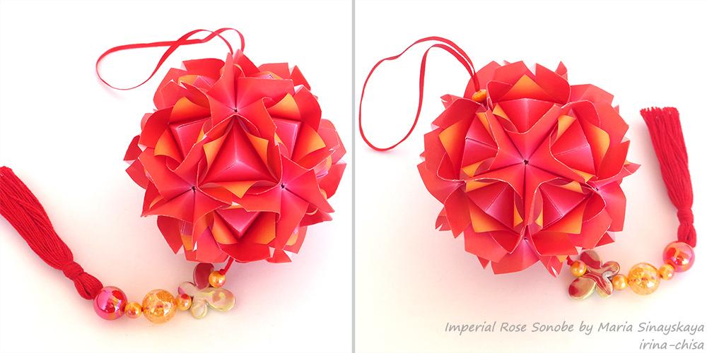 Imperial Rose Sonobe by Maria Sinayskaya