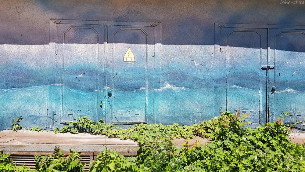 """Стрит-арт """"Айвазовский. Бушующее море"""""""