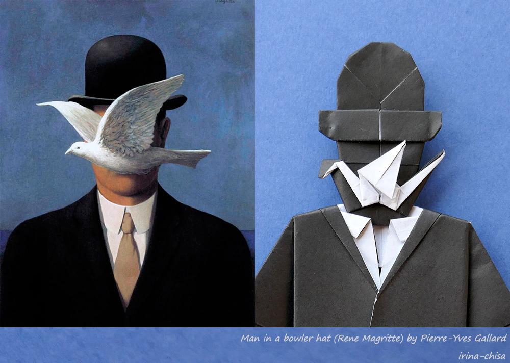Man in a bowler hat (Rene Magritte) by Pierre-Yves Gallard