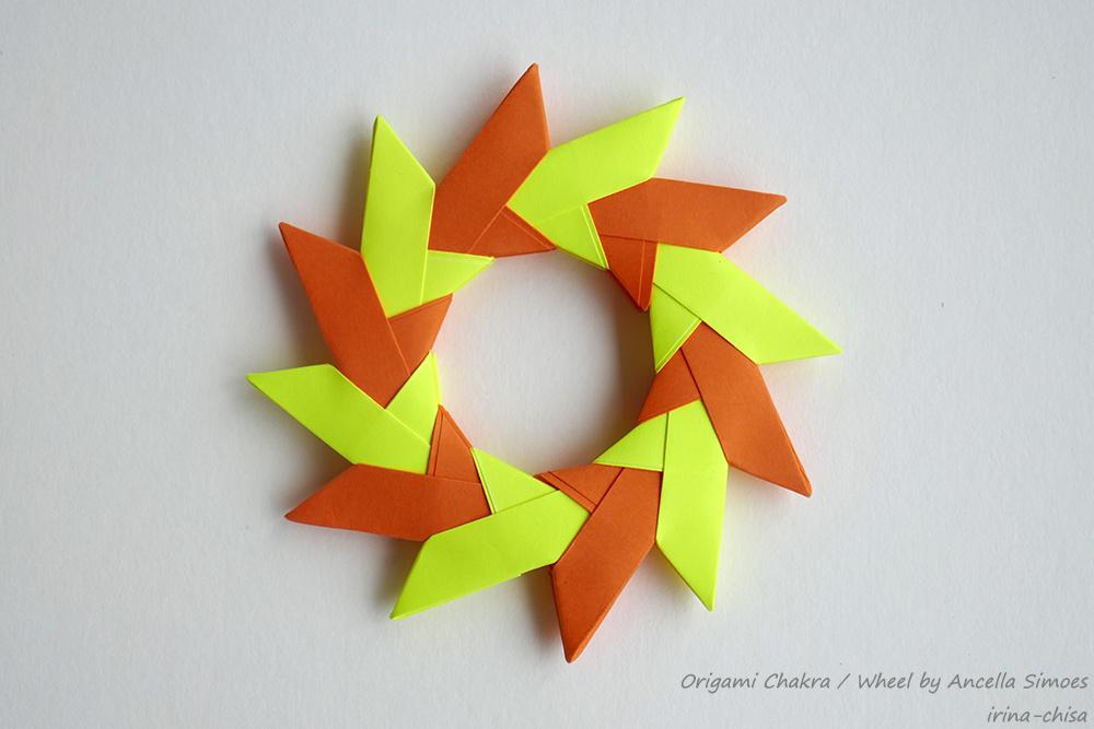 Origami Chakra / Wheel by Ancella Simoes