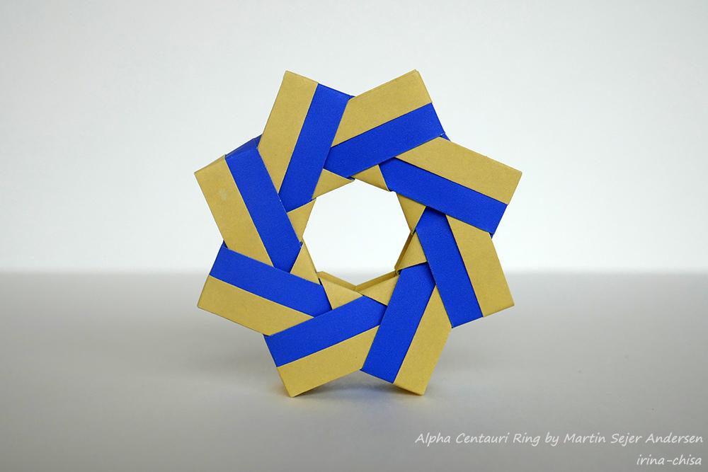Origami Alpha Centauri Ring by Martin Sejer Andersen https://youtu.be/5uTSr72gjLk