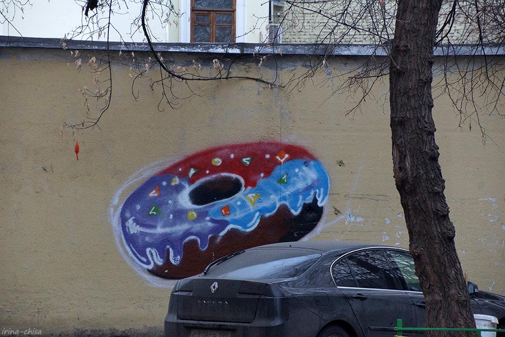 Граффити в арбатских двориках