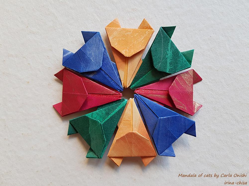 Mandala of cats by Carla Onishi