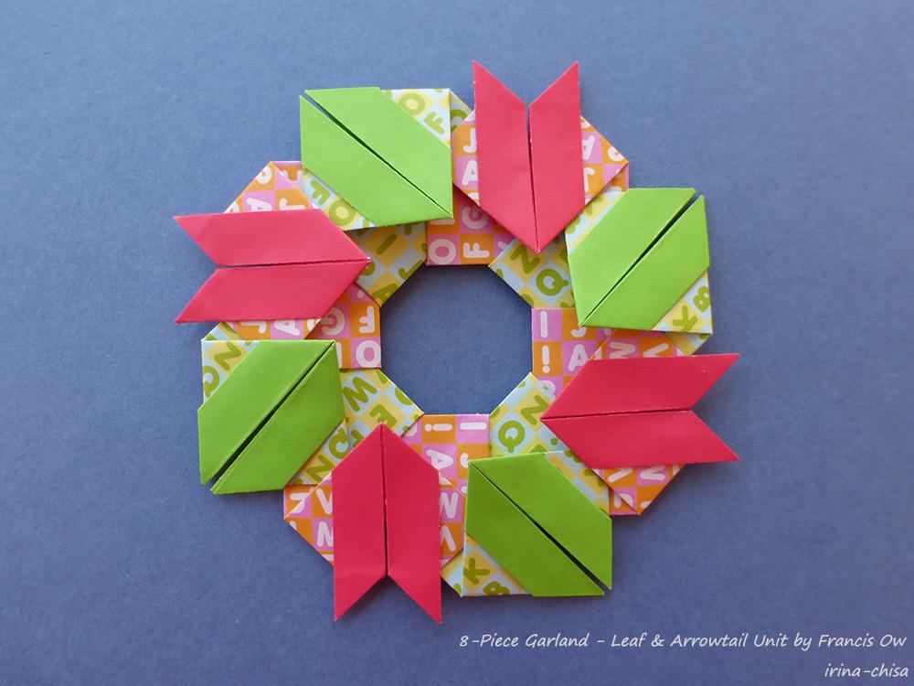 8-Piece Garland – Arrowtail  & Leaf Units by Francis Ow