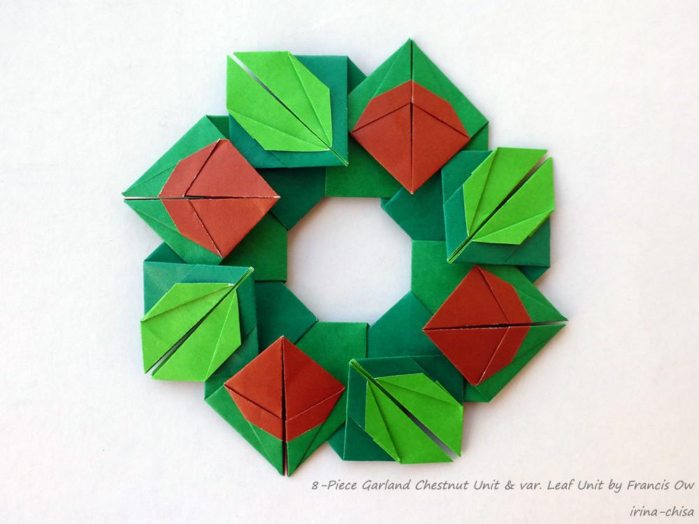 8-Piece Garland Chestnut Unit & var. Leaf Unit by Francis Ow