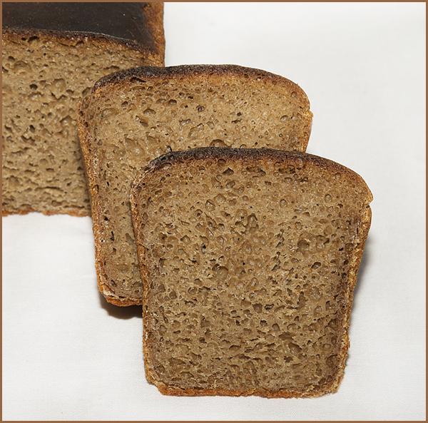 Хлеб ржано-пшеничный на ржаной закваске с
