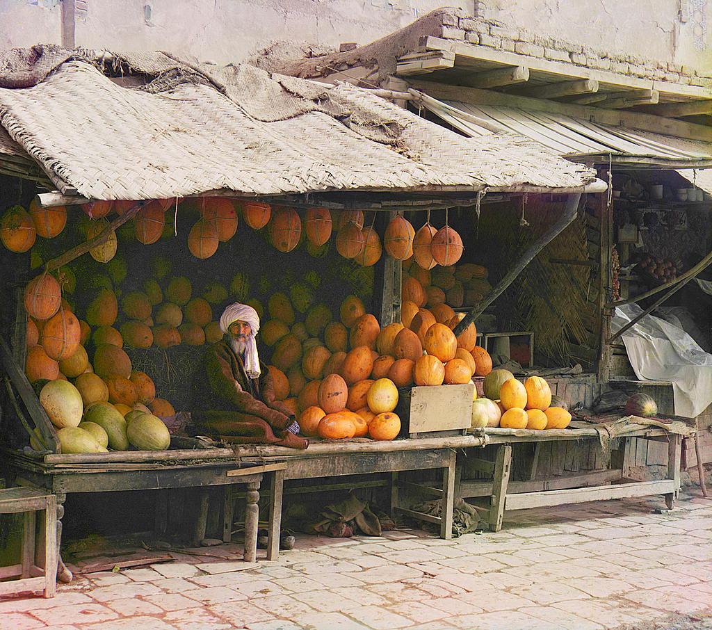 Самарканд. Торговец дынями.