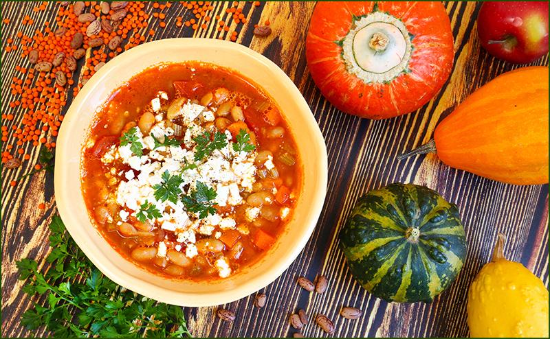 Суп  из белой фасоли — Греческая кухня