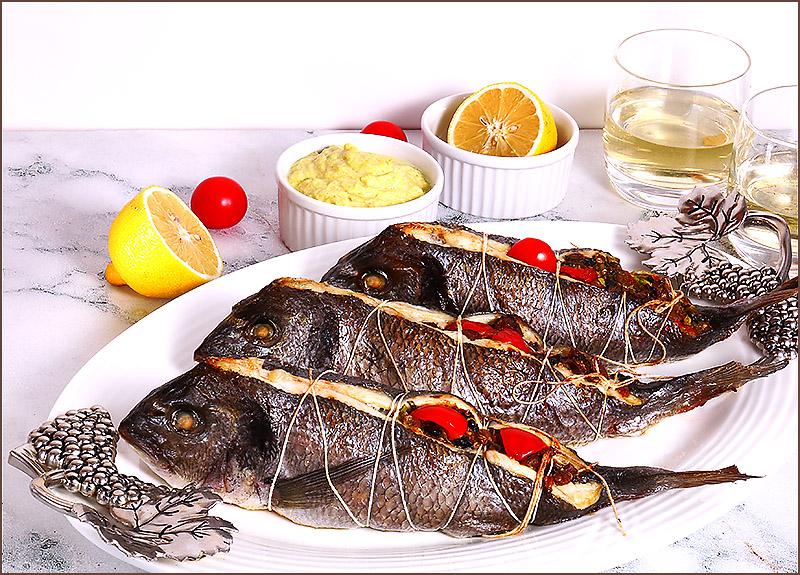 Рыба фаршированная рататуем