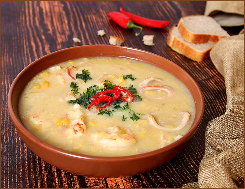 Чаудер - старинный суп с рыбой и морепродуктами height=116.13