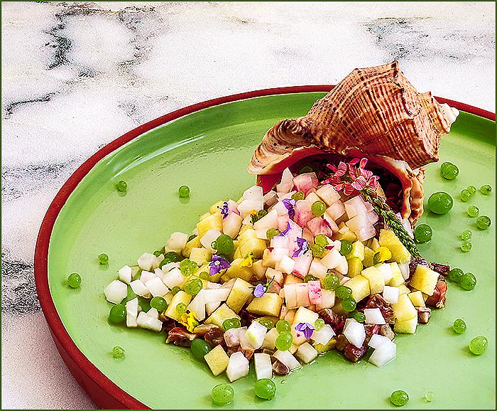 Готовим дома блюдо молекулярной кухни — «Севиче из барабульки с икрой из малосольного  огурца»