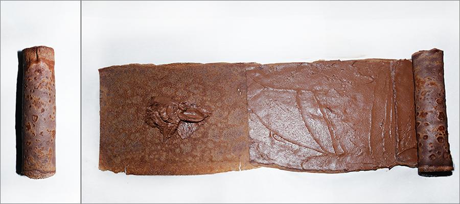 Шоколадный блинный рулет - десерт на Масленицу