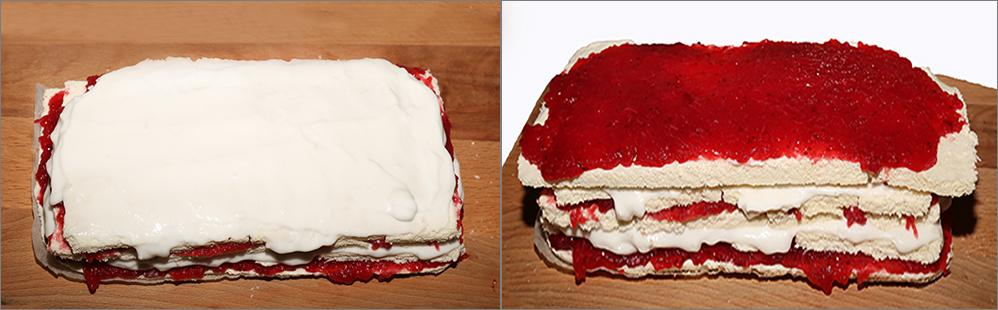 Клюквенный домашний торт - безе