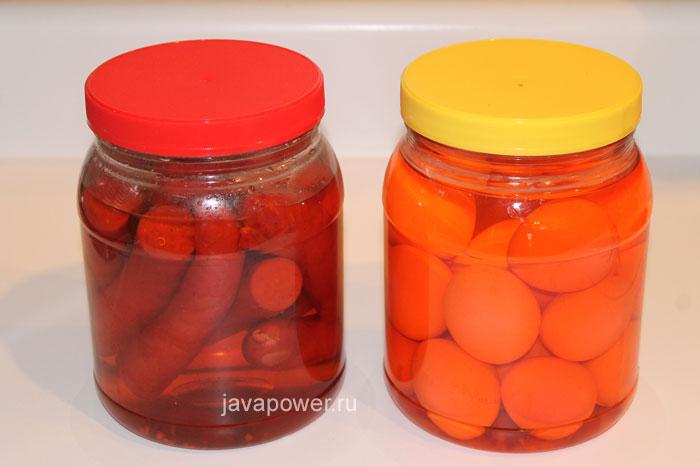 маринованныне яйца