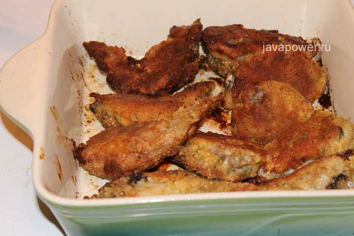 курица в кляре в духовке