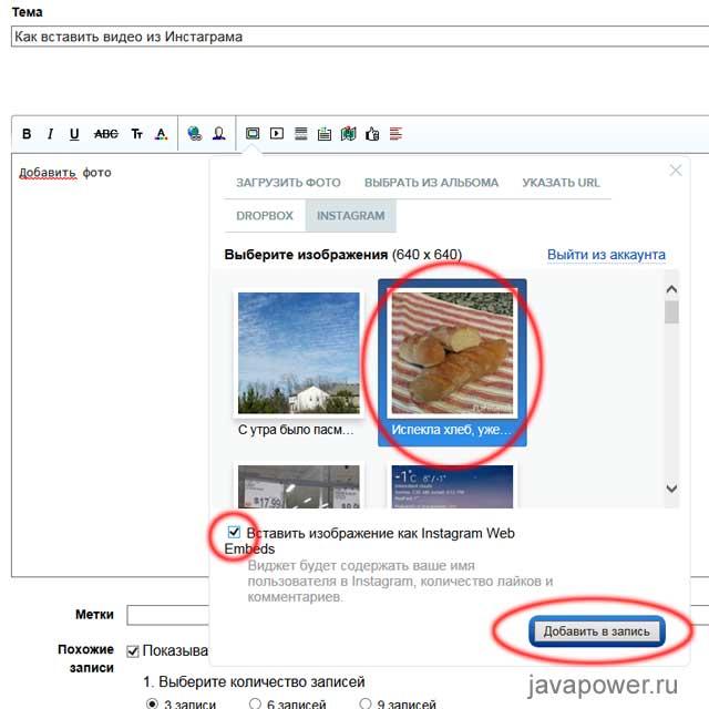 Как вставить на страницу своего сайта