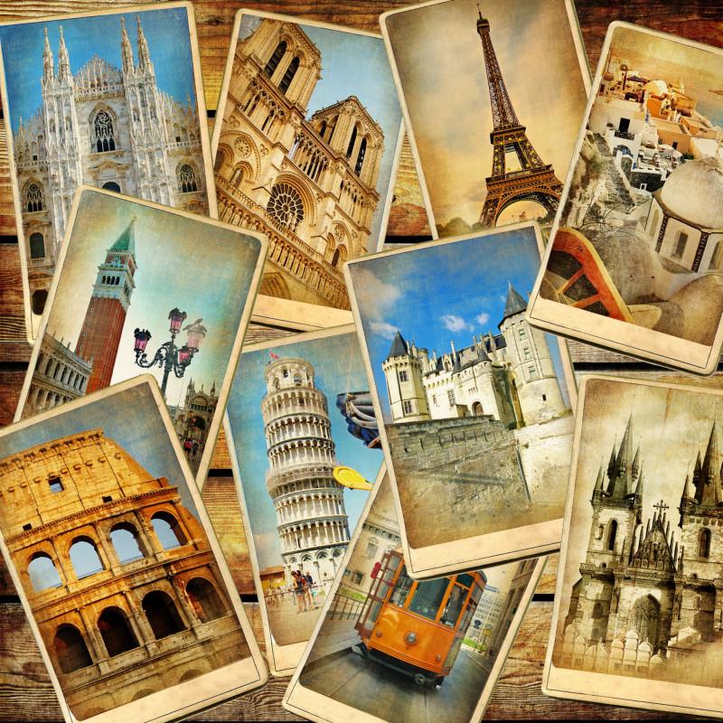 Днем рожденья, открытка из путешествия