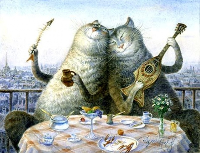 Художник из питера коты