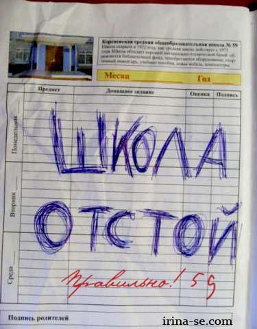 irina-se.com Школа приколы