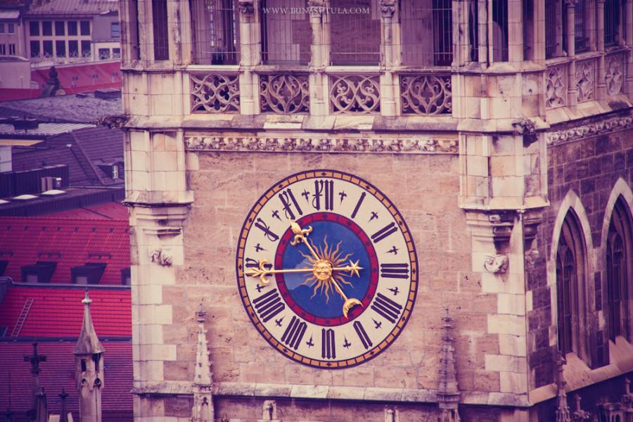 Часы на Мариенплатц