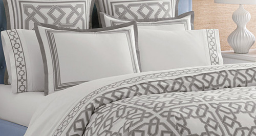 lovely-Modern-bedding-from-Jonathan-Adler-feminine-bedding-design