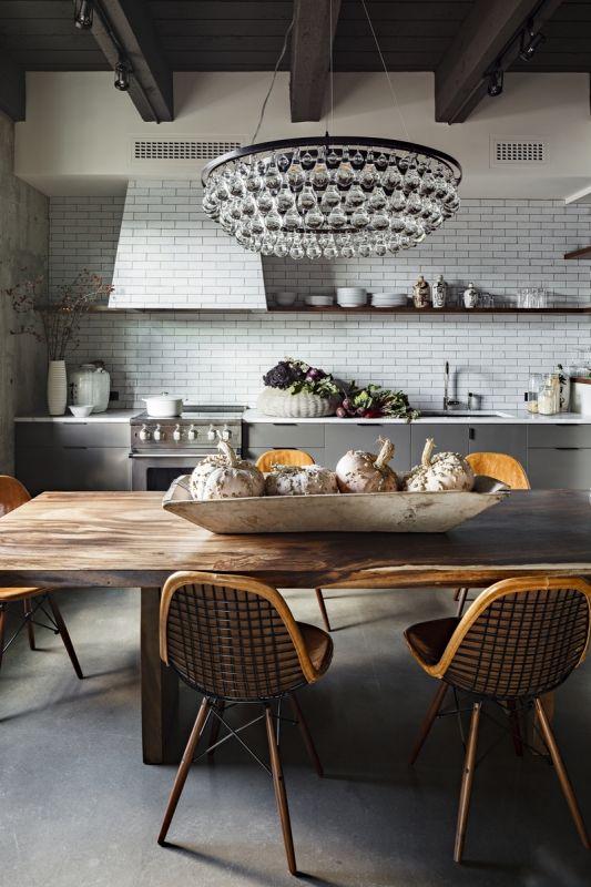 Современная кухня в стиле эклектика