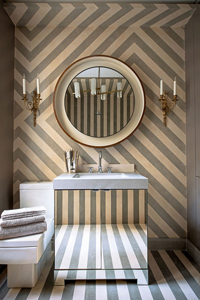 Bathroom-stripe-wallpaper