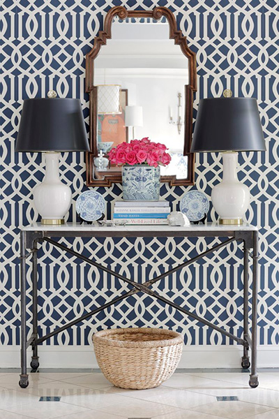 wallpaper-console-table