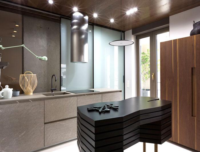 black-metal-framing-marble-kitchen-decor