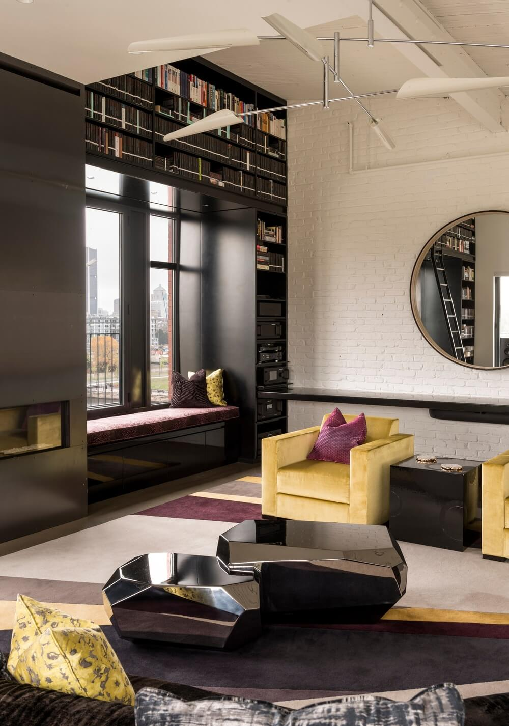 Квартира в стиле индастриал-шик.