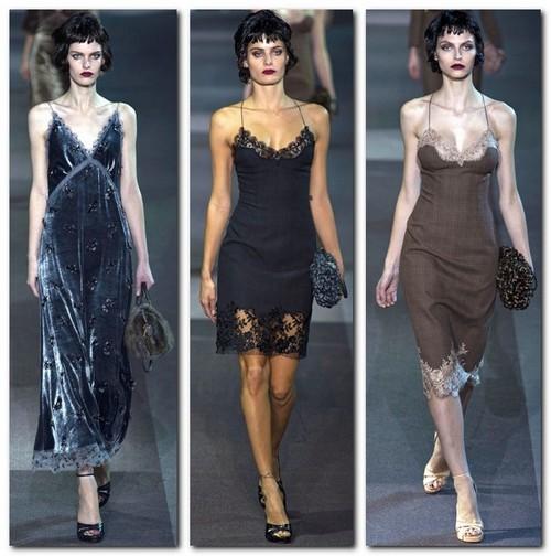 Шелковые платья с кружевом