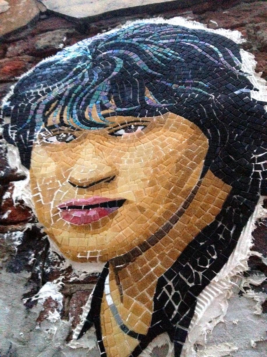 Виктор Цой в мозаике