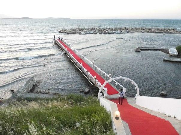 красная дорожка для молодых от моря
