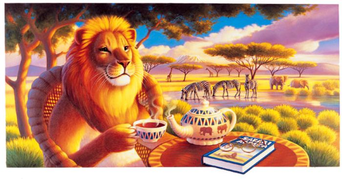 чай открытка со львом с добрым утром особым рвением петербургский