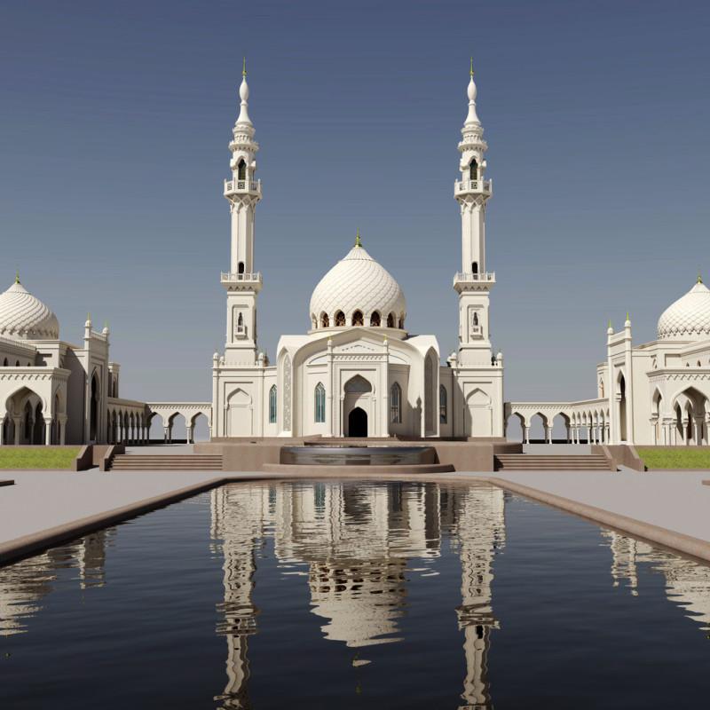Белая мечеть в Болгаре (Татарстан).