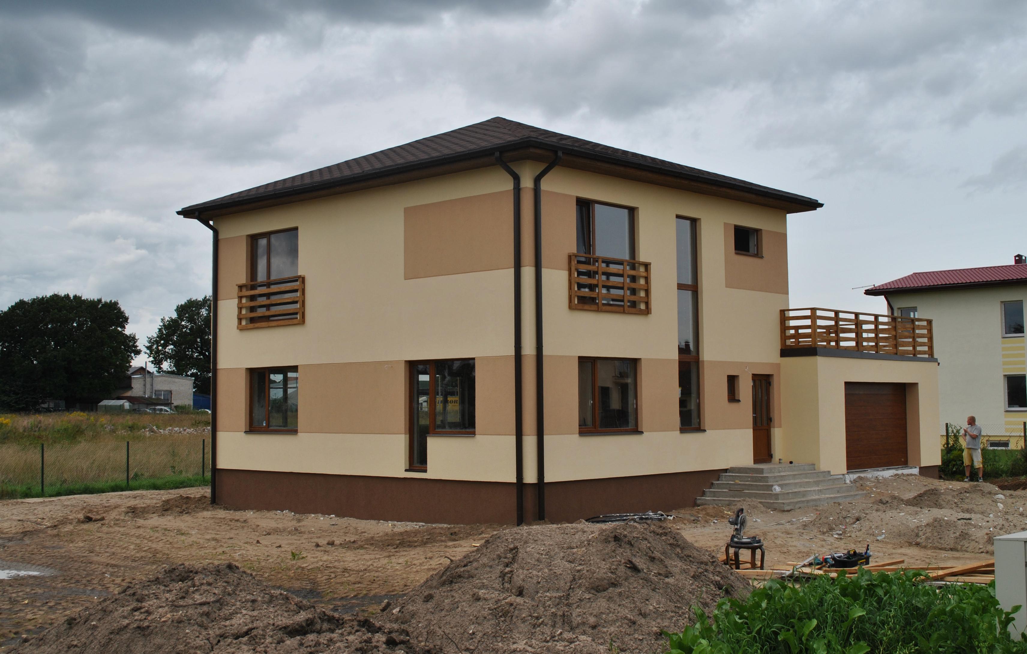 Покраска дома снаружи фото