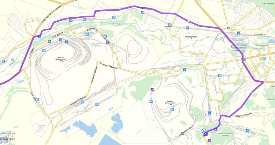 Карта Старый Оскол