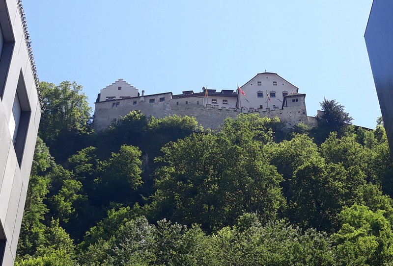 Наверное, это единственная достопримечательность страны - замок в городе на горе. Резиденция князя.