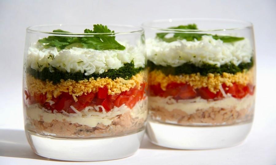 Оригинальные легкие салаты рецепты с фото