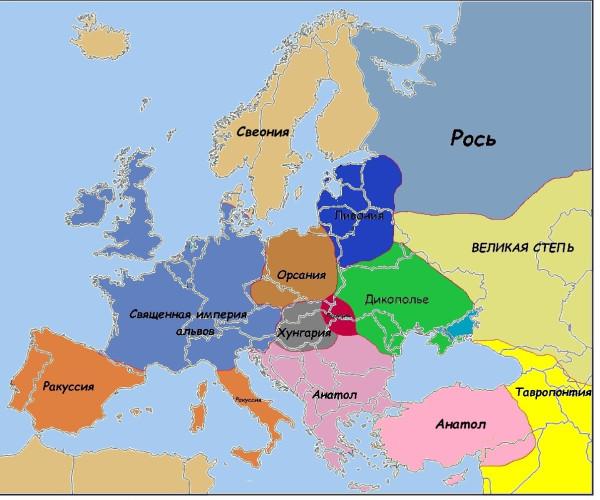 Карта к Меду малая