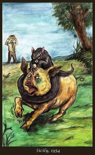 мифология-кошка-змея-Татцельвурм-617185
