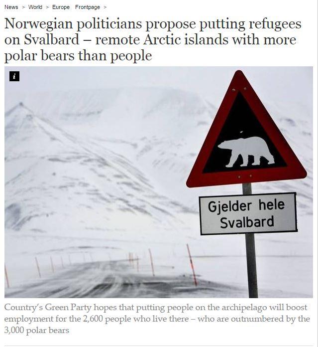Норвегия предложила разместить беженцев на полярном архипелаге1