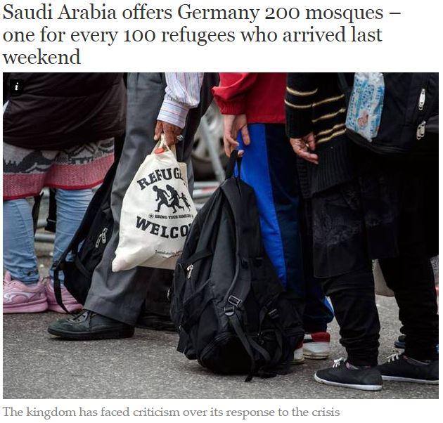 Саудовская Аравия в рамках помощи «беженцам» предложила построить в Германии 200 мечетей