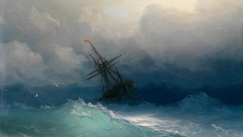 Айвазовский Корабль в бушующем море