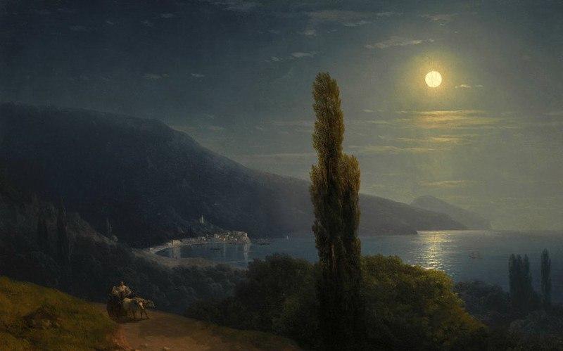 Айвазовский Крымский вечер лунной ночью